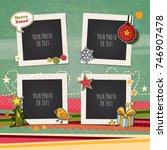 decorative vector template... | Shutterstock .eps vector #746907478
