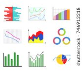 collection of color diagram and ... | Shutterstock . vector #746912218