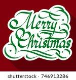 typographical festive design...   Shutterstock .eps vector #746913286