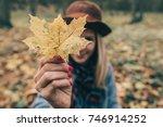 happy woman having fun with... | Shutterstock . vector #746914252
