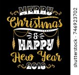 christmas and new year... | Shutterstock .eps vector #746923702