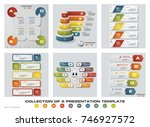 collection of 6 design colorful ... | Shutterstock .eps vector #746927572