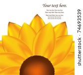 Abstract Vector Sunflower...