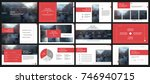 red presentation templates... | Shutterstock .eps vector #746940715