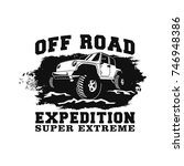 off road car 4x4 vehicle event  ... | Shutterstock .eps vector #746948386