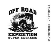 off road car 4x4 vehicle event  ... | Shutterstock .eps vector #746948416