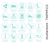 snow removal flat line icons.... | Shutterstock .eps vector #746949112