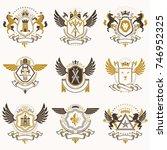 vector vintage heraldic coat of ...   Shutterstock .eps vector #746952325