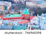 cityscape of gunpowder tower...   Shutterstock . vector #746960398