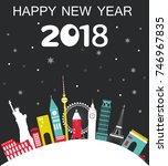 happy new year travel... | Shutterstock . vector #746967835