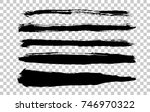 handwrite brush strokes set.... | Shutterstock .eps vector #746970322