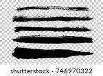 handwritten long brush strokes... | Shutterstock .eps vector #746970322