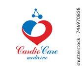 vector heart shape logo created ... | Shutterstock .eps vector #746970838