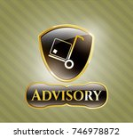 shiny emblem with cargo icon... | Shutterstock .eps vector #746978872