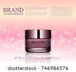 beauty anti aging cream ad.... | Shutterstock .eps vector #746986576