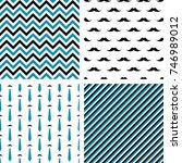 set of seamless male patterns.... | Shutterstock . vector #746989012
