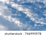 cloudy sky full with cumulus... | Shutterstock . vector #746995978