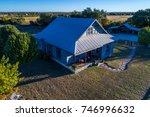open ranch farm lands large... | Shutterstock . vector #746996632