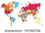 color world map vector | Shutterstock .eps vector #747000706