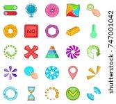 button icons set. cartoon set...