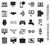 intellect icons set. simple set ... | Shutterstock . vector #747002086