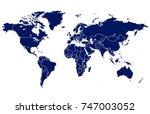 world map vector | Shutterstock .eps vector #747003052