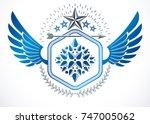 heraldic coat of arms... | Shutterstock .eps vector #747005062