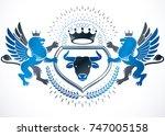 heraldic coat of arms... | Shutterstock .eps vector #747005158