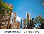 financial district  downtown ... | Shutterstock . vector #747016192