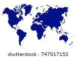 world map vector | Shutterstock .eps vector #747017152
