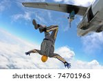 skydiving photo | Shutterstock . vector #74701963