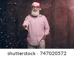 happy bearded and modern man in ... | Shutterstock . vector #747020572