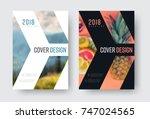 vector report cover template in ...   Shutterstock .eps vector #747024565