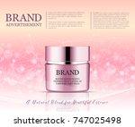 beauty anti aging cream ad.... | Shutterstock .eps vector #747025498