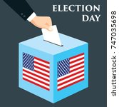 election day in united states... | Shutterstock .eps vector #747035698