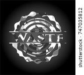waste grey camouflage emblem | Shutterstock .eps vector #747035812