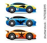 set of cars. | Shutterstock .eps vector #747038395