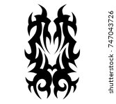 tattoo tribal vector designs.... | Shutterstock .eps vector #747043726