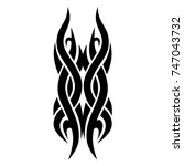 tattoo tribal vector design.... | Shutterstock .eps vector #747043732