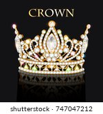 illustration of royal gold... | Shutterstock .eps vector #747047212