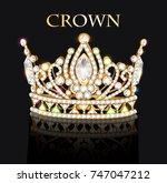illustration of royal gold... | Shutterstock .eps vector #747047212