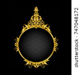 golden mirror frame | Shutterstock .eps vector #747048172