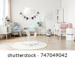 stylish furniture in a... | Shutterstock . vector #747049042
