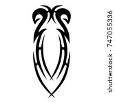 tattoo tribal vector designs.... | Shutterstock .eps vector #747055336
