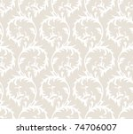 seamless floral retro pattern.... | Shutterstock . vector #74706007