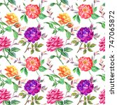 seamless pattern from multi... | Shutterstock . vector #747065872