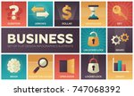 business   set of flat design... | Shutterstock .eps vector #747068392