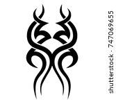 tattoo art tribal vector design.... | Shutterstock .eps vector #747069655