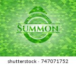 summon green emblem with... | Shutterstock .eps vector #747071752