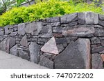 Retaining Wall Detail. Stone...